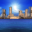 Refinery factory in industry estate — Stock Photo