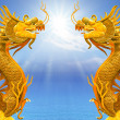 Stock Photo: Dragon and sunlight
