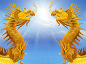 Dragon and sunlight — Stock Photo