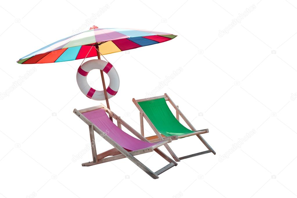 Деревянный зонтик для пляжа