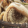 Natural honeycomb in fresh market  use for food  ingredien topic — Stock Photo