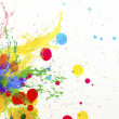 Stock Photo: Splashing of ink color drop use for colorful background