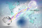 World telecommunication in digital period — Stock Photo