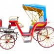 Стоковое фото: Old horse drawn carriage isolated on white background