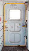 Door of military plane inside — Foto Stock