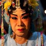 BANGKOK THAILAND - Feb1- close up face of unidentified woman mak — Stock Photo