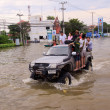 BANGKOK THAILAND - NOV 8: north of Bangkok areas full of flood water higher levels thexpected — Stock Photo #33617727