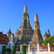 Stock Photo: Wat arun temple pagodimportant landmark of Bangkok Thailand wi