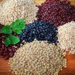 Red bean black bean rice grain — Stock Photo