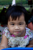 Lovely face of asian adorable cute girl use for children theme t — Stock Photo