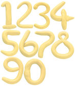 Soft color of numbers — Stock Photo