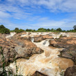 Liphi water fall or mekong river in champasak southern of laos one of destination in south east asia — Foto de Stock