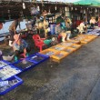 Stock Photo: People at fish market