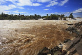 Konprapeng water fall or mekong river in champasak southern of l — Stock Photo