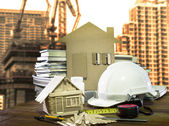 Equipment and tool home and building construction industry use — Stockfoto