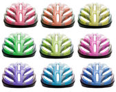Varieties color of bicycle safety helmet isolated on white backg — Stock Photo