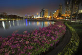 Landscape of beautiful water pool important landmark of city lif — Stock Photo