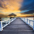 Wood piers and sea scene with dusky sky use for natural background ,backdrop wood piers and sea scene with dusky sky use for natural background ,backdrop — Stock Photo #47883111