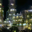 Close up view of refinery oil plant in heavy industry estate use — Stock Photo