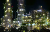 Close up view of refinery oil plant in heavy industry estate use — 图库照片