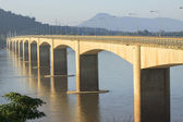 Loas-japan bridge crossing Mekong river in Champasak southern of — Stock Photo