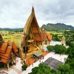 Birds eyes view of Wat Tum Seua (tiger cove temple) Kanchanburi — Stock Photo #49461227