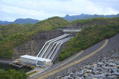 Srinagarind Hydroelectricity Dam building below water level — Stock Photo