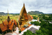Birds eyes view of Wat Tum Seua (tiger cove temple) Kanchanburi — Stock Photo
