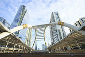 Bridge link between mrt and bts mass transportation in heart of  — Stock Photo