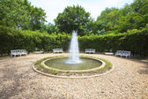 Water fountain in english garden use for multipurpose background — Stock Photo