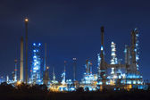 Lighing landscape of oil refinery petrochemical in heavy industr — Stock Photo