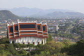 Buddha church on mountain in huahin distric prachaupkhirikhun pr — Stock Photo