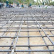 Reinforce iron cage net for built building floor in construction — Stock Photo #51060375