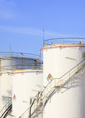 RFM extract chemicals tank strorage in petrochemical refinery pl — Stock Photo