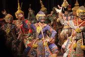 BANGKOK THAILAND - AUGUST 7 hanuman brothers one part of  Praram — Stock Photo