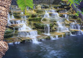 Artificial waterfalls  with long exposure technic photography — Stock Photo