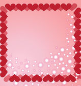 The frame made from the hearts decorated with white stars — Stock Vector