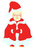 Funny picture of Santa Claus — Stock Vector