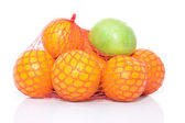 The pile of oranges and apple — Stock Photo