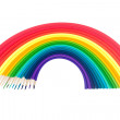Stock Photo: Set of pencils warped as rainbow