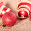 Christmass bell and ball — Stock Photo