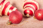 Christmass bell and ball — Stockfoto