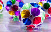 Christmas varicoloured decorations — Stockfoto