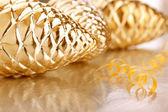 Christmas's glass cones and serpentine — ストック写真
