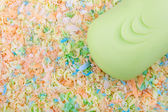 Bright spa Background with the soap Bar — Stock Photo