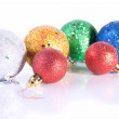 The group of sparkling Christmas toys — Stock Photo