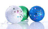 Sparkling New Years's Tree Toys — Stock Photo