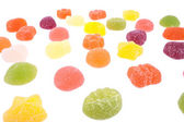 The candies field — Stock Photo