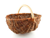 Single  willow basket — 图库照片