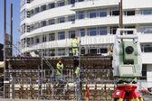 測量機器や建設業界 — ストック写真